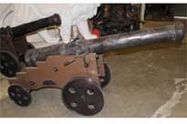 Pair Large French Cast Iron Cannons