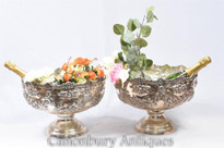 Victorian Silver Plate Rococo Punch Bowls