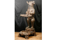 Antique Black Forest Bear Umbrella Stand