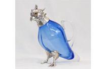 Glass Parrot Decanter Jug