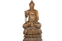 Large Hand Carved Tibetan Buddha Statue