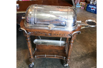 Antique French Silver Plate Christofle Beef Trolley