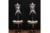 Vintage Metal Mannequin Table Lamps