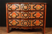 Antique Chinese Red Lacquer Chest Drawers