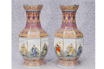 Pair Chinese Imari Porcelain Vases