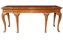 Large George II Walnut Console Table