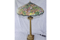 French Tiffany Bronze Table Lamp
