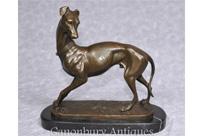 rt Deco Bronze Greyhound Statue by Barye