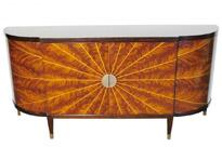 Art Deco Sideboard Mahogany and Maple Star Inlay