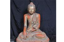 Hand Carved Tibetan Buddha Statue