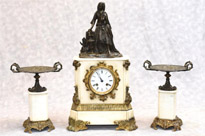 French Empire Marble Ormolu Mantle Clock