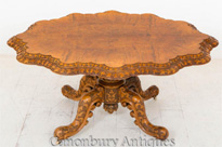 Victorian Walnut Centre Table Dining