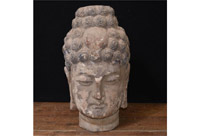 Hand Carved Tibetan Buddhist Head