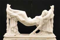 Italian Marble Statue Sleeping Beauty by Antonio Frilli
