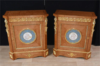 Pair Empire Satinwood Satinwood Cabine