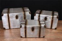 Set 3 Aviator Luggage Boxes