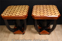 Pair Art Deco Side Tables