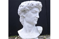 Hand Carved Italian Marble Bust Apollo