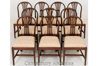 10 Mahogany Hepplewhite Dining Chairs