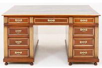 Antique French Empire Mahogany Partners Desk