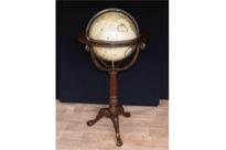 English Mahogany World Globe