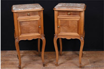Pair French Antique Bedside Chests