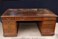 Antique Victorian Partners Desk Circa