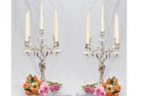 Pair Victorian Silver Plate Rococo Candelabras