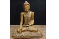 Antique Carved Nepalese Buddha Statue