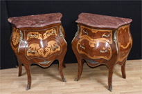 Pair Empire Bombe Commodes