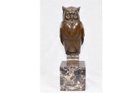 Bronze Art Deco Owl