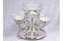 Sheffield Silver Plate Epergne Centrepiece