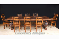 Oak Refectory Dining Table and Ladderback
