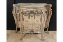 French Empire Painted Commode Chest Drawers