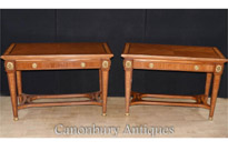 Pair French Empire Console Tables