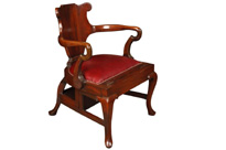 Arts and Craft Mahogany Metamorphic Chair Library Steps