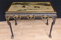 Antique Edwardian Lacquer Console Table