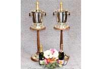 Victorian Silver Plate Mahogany Champagne Buckets