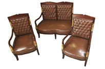 French Empire Sofa Arm Chair Suite