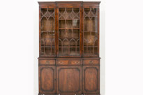 Mahogany Breakfront Bookcase Georgian
