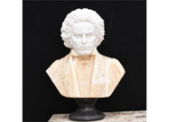 Hand Carved Italian Marble Bust Beethoven