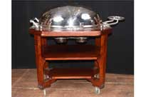 English Silver Plate Beef Trolley