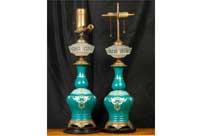 Antique French Nouveau Table Lamps