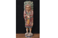 Large Hand Carved Native American Statue