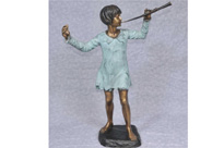 Bronze Statue Peter Pan Figurine