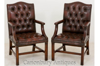 Leather Gainsborough Arm Chairs