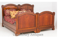 Antique French Mahogany Double Bed
