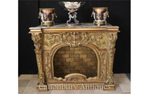 Carved French Louis XVI Gilt Fireplace Mantle
