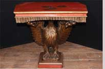 Chinese Lacquer American Eagle Console Table