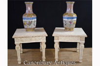 Pair Chinese Bone Side Tables